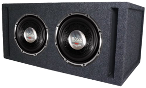 Boss Dual 10 Inch Sub Enclosure Boxes