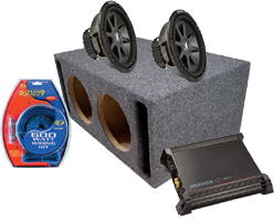 Car Audio Amplified Sub Boxes Dual 8