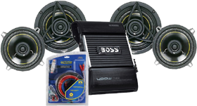 Car Audio Speakers and Amp Combos 4-Channel