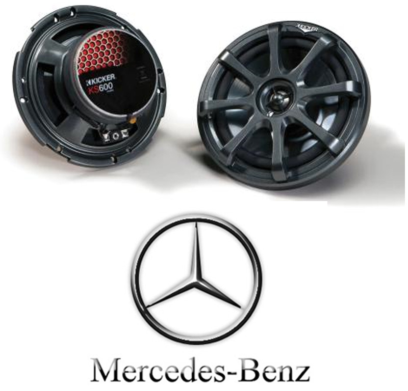 Kicker car stereo ks400 4 speakers fit many mercedes benz for Mercedes benz car audio