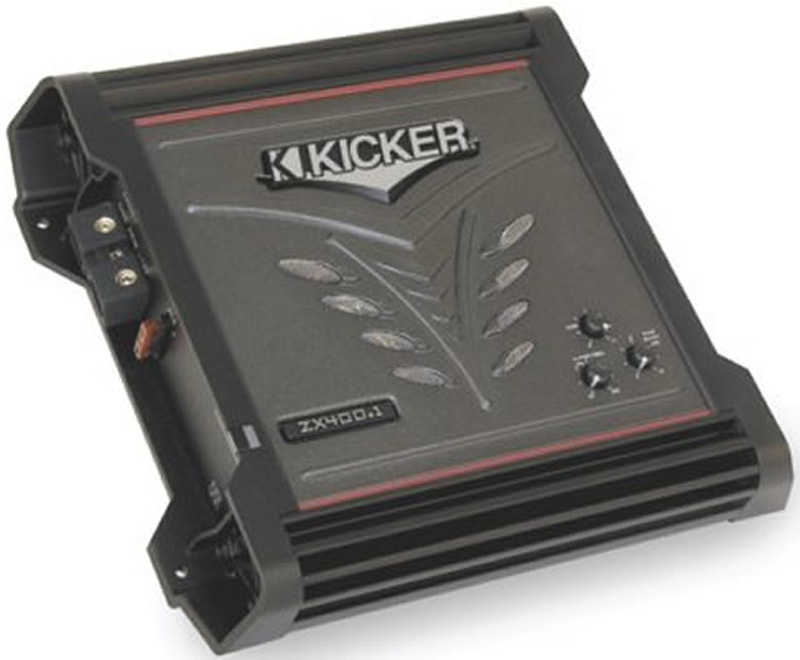Kicker 06 ZX400.1 ZX Amp Car Audio 400 Watt Class D ...