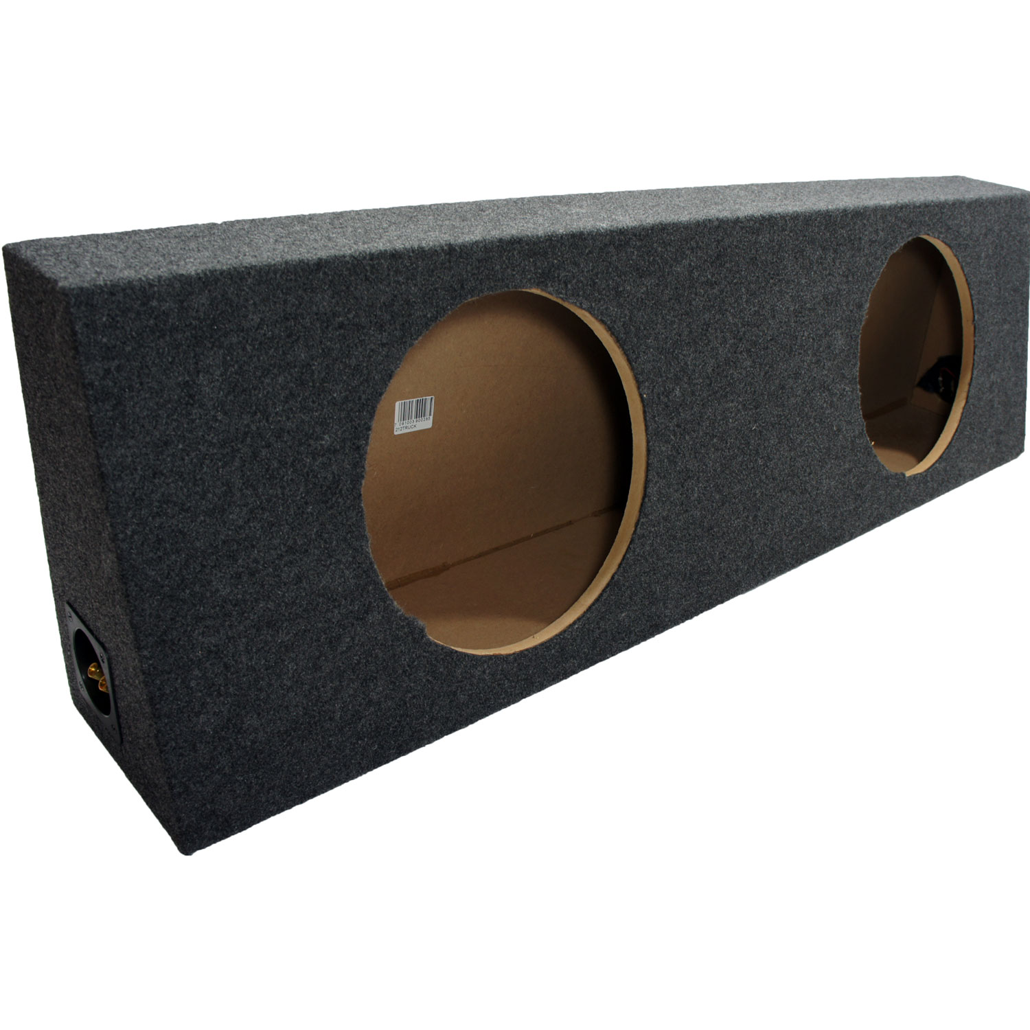 Dual 12 Truck Subwoofer Box Sealed Enclosure Gray