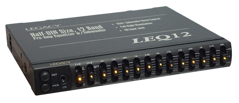 Car Audio Equalizer: Legacy Car Stereo LEQ12A 12 Band Pre-Amp Equalizer W