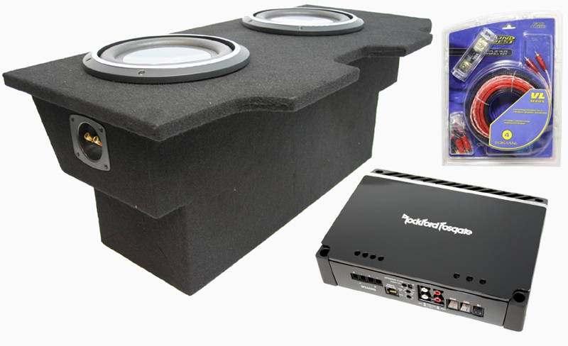 rockford fosgate 93 02 pontiac firebird dual 10 quot amplified p3sd410 subwoofer enclosure w p500