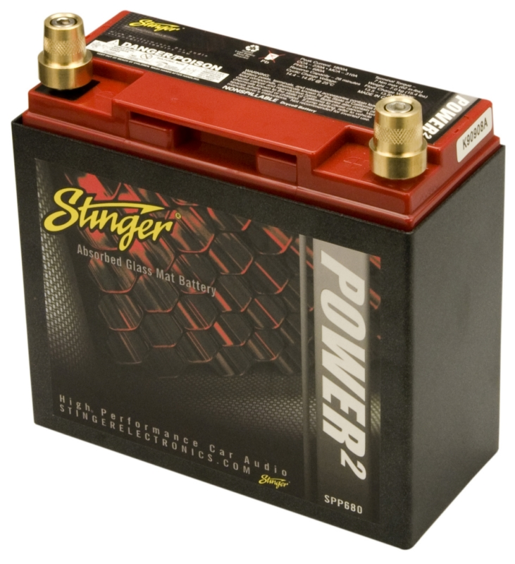 stinger spp680 12 volt dry cell battery 680 amps power2 series spp680. Black Bedroom Furniture Sets. Home Design Ideas
