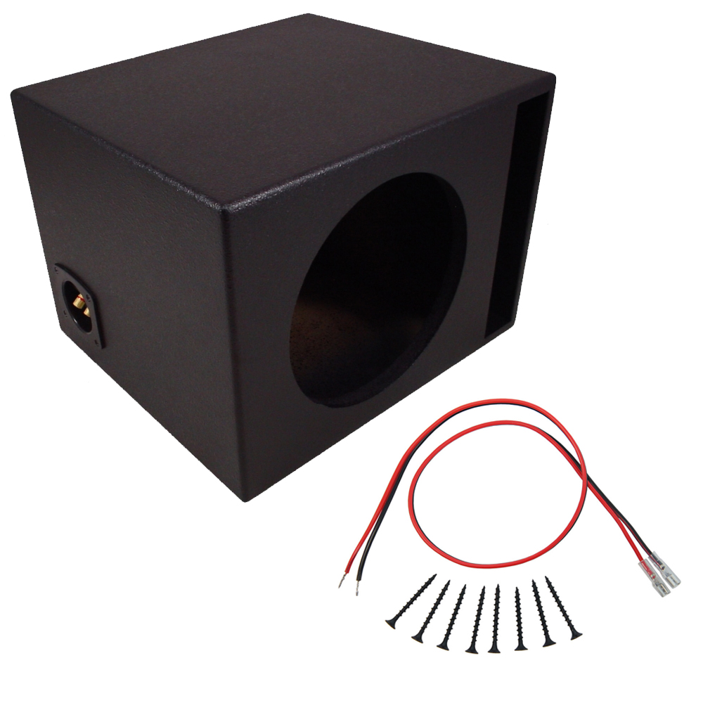 car audio single 10 quot  ported subwoofer box coated mdf bass