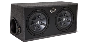 Dual 12 Inch Loaded Subwoofer Boxes at HalfPriceCarAudio.com