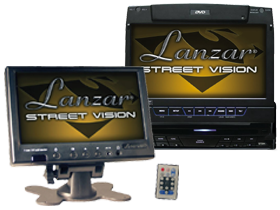 Lanzar Mobile Video In-Dash DVD with Monitors at HalfPriceCarAudio.com