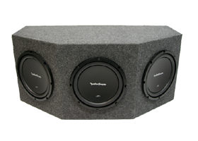 Triple 10 Inch Loaded Subwoofer Boxes