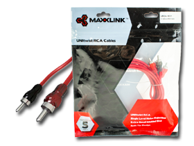 Maxxlink 10 Ft RCA Cables