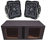 "Kicker Subwoofer Stereo System (2) S12L7 Subs & Dual 12"" Vented Enclosure"