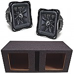 "Kicker Subwoofer Stereo System (2) S15L7 Subs & Vented 15"" Enclosure"