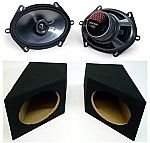 "Jeep Wrangler 87-95 YJ Custom System Includes Kicker KS690 6x9"" Speakers & Custom Boxes"