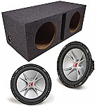 "Kicker Subwoofer System Includes (2) CVR12 Dual 2 Ohm & Dual 12"" Vented Box"