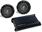 Kicker Amplifier Stereo System DX300.2 & (2) CVT10 Subwoofers