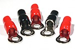 "Tsunami RT3 1/0 gauge to 3/8"" (3 red + 2 black) Ring Terminal Gold"