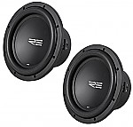 "(2) RE Audio SRX10 Car Stereo Dual 2 Ohm 1200 Watt Peak 10"" Sub Subwoofer Pair System"