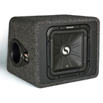 "Kicker VS12L3 12"" 400 Watts RMS Solo Baric L3 Single Sub Enclosure 2 Ohm [11VS12L32]"