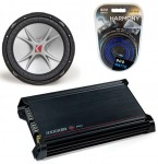 Kicker Subwoofer System Includes CVR12 Dual 2 Ohm, DX300.2 Amp & Install Kit
