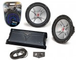 Kicker Subwoofer System Includes (2) CVR12 Dual 2 Ohm, ZX1000.1 Amp & Install Kit