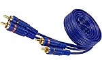 Sound Quest SQIB17 Value Series 17 Feet Blue RCA Interconnect Cable