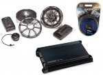 """Kicker Car Stereo KS6.2 Component 6"""" Four Speakers, ZX350.4 Amplifier & Amp Install Kit"""