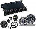 "Kicker Car Stereo DX300.2 Amplifier Amp & Two Pairs KS650.2 6 1/2"" Component Speakers System"