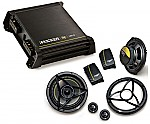 "Kicker Car Stereo DX125.2 Amplifier Amp & DS650.2 6 1/2"" Component Speaker System System"