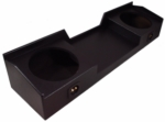"Nissan Titan Crew & King Cab 2004 - 2012 Dual 10"" Custom Sub Box Sealed Enclosure (Black)"