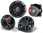 "Kicker Car Audio KS40 & KS650 Two Way 4"" & 6 1/2"" Speakers 2 Pair System System"