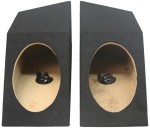 "Jeep Wrangler YJ 1987 - 1995 Pair 6"" x 9"" Speaker Boxes Sealed Enclosure (Black)"