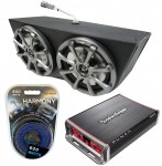 "Kicker KS65 & Rockford PBR300X4 Amp Marine Stereo Boat Tower Quad 4 Way 6 1/2"" Speakers Package"