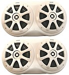 "Kicker Package KM6000 Marine Stereo Boat Dual 6 1/2"" Speaker 1"" White Trim Spacers"