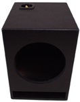 "Single 10"" Ported Subwoofer Enclosure Vented Sub Box (Textured Black)"