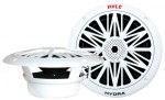 Pyle Boat Marine Stereo PLMR82 300 Watts 8'' 2-Way White Marine Speakers