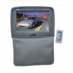 Pyle Car Stereo PL1101HRGR Adjustable Headrests w/ Built-In 11'' TFT/LCD Monitor w/ IR Transmitter & Cover (Gray)