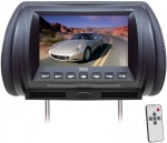 Pyle Car Stereo PL70HRB Adjustable Hideaway Headrest 7'' TFT Video Monitor (Black)
