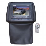 Pyle Car Stereo PL72HRBK Adjustable Headrests w/ Built-In 7'' TFT/LCD Monitor w/ IR Transmitter & Cover (Black)