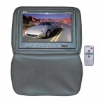 Pyle Car Stereo PL91HRGR Adjustable Headrests w/ Built-In 9'' TFT/LCD Monitor w/ IR Transmitter & Cover (Gray)