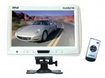 Pyle Car Stereo PLHR97W 9'' TFT LCD Headrest Monitor w/ Stand (White)