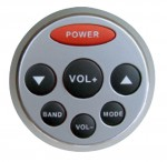 Pyle PLMRD2 Marine Wired Remote with Rubber Tactile Action Control Buttons