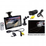 Pyle Car Audio PLCM7700 7 Inch Window Suction Mount Monitor with Rearview Backup Camera