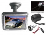 "Pyle PLCM31 3.5"" Slim LCD Window Suction Mount Monitor w/ Dual Rearview Camera"