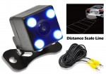 Pyle PLCM4LED Rear View Camera - 0 Lux Night Vision LED Lights with Distance Scale Lines