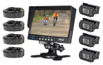 "Pyle PLCMTR74 Dual DC Voltage 12-24 Van, Truck & Bus Top Mount Complete Color Rear View Backup 4 Camera Weatherproof 18 LED IR Night Vision System & 7"" TFT LCD Monitor"