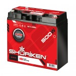Shuriken SK-BT18 Compact Size AGM Battery with 500 Watts and 18 AMP Hours