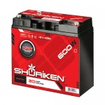 Shuriken SK-BT20 Compact Size AGM Battery with 600 Watts and 20 AMP Hours