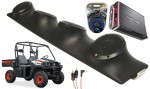 "Bobcat 3400 Rockford R152 & PBR300X4 Amp Quad (4) 5 1/4"" Speakers UTV Pod Package"