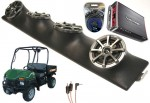 "Bush Hog Trail Hunter Powered Kicker KS525 / Rockford Amp Quad (4) 5 1/4"" Speaker UTV Pod Package"