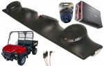 "Bush Hog Trail Hand Rockford R152 & PBR300X4 Amp Quad (4) 5 1/4"" Speakers UTV Pod Package"